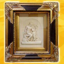 Relief Bild Mutter + Kind Vintage schwarz goldfarben Barockrahmen Vintage