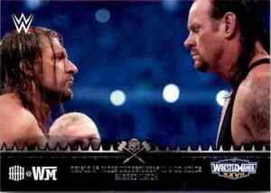 "WWE Topps 2015 Triple H ""HHH At Wrestlemania"" Insert Singles"