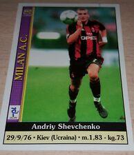 CARD CALCIATORI MUNDI CRONO 2001 MILAN SHEVCHENKO CALCIO FOOTBALL SOCCER ALBUM