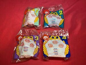 1996 McDonalds Littlest Pet Shop Set of 4 Toys Sealed Happy Meal