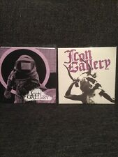 "Icon Gallery 2 X 7"" LOT Dear Skull Records Solar Funeral Punk"