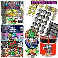 30x Cali Cookies Glass Jars 60ml 3.5g Stardawg Haze Medical WEED Stickers POP UK