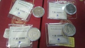 1 NEW 2004 ENCASED George Bush 43rd U.S. PRESIDENT COA Coinflip $10 Liberia Coin
