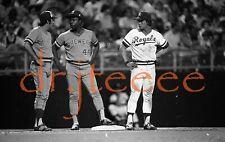 1975 Hank Aaron & George Brett - 35mm Baseball Negative