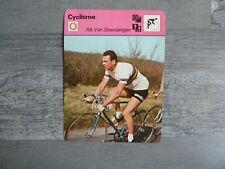 CARTE EDITIONS RENCONTRE 1977 CYCLISME RIK VAN STEENBERGEN
