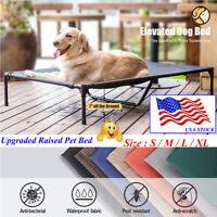 VEEHOO Elevated Dog Cat Bed Pet Cot Raised Lounger Hammock for Indoor & Outdoor