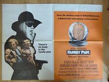 FAMILY PLOT (1976) - original UK quad film/movie poster,Hitchcock crime thriller
