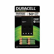 Duracell Ion Speed 4000 CHARGER with 6 AA and 4 AAA Rechargeable NiMH Batteries