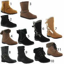Unbranded Buckle Ankle Boots Casual Shoes for Women
