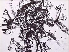 """ANTONIO SAURA monté Vintage Print, Crucifixion, Stedelijk, 1964, 12 x 10"""" A93"""