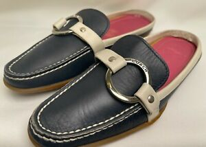 COACH RANDI 6.5 B Women's Leather Mules Slides Loafer Shoes Made in Italy