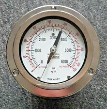 NEW and Genuine Ashcroft Pneumatic Pressure Gauge max 6000psi