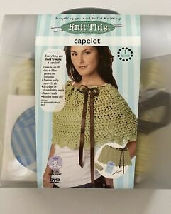 KNIT THIS CAPELET How to Knit Kit - Everything included plus DVD Org $25