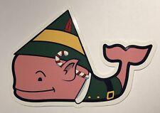 Vineyard Vines Buddy the Elf Christmas Whale Sticker  ~ New!