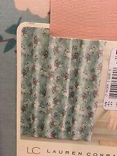 "NWT Lauren Conrad ""Bouquet"" Floral Green & Purple Fabric Shower Curtain  Cotton"