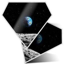 2 x Diamond Stickers 7.5 cm - Planet Earth Space NASA Moon Blue  #24374