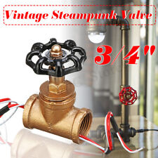 Retro Iron 3/4'' Pipe Lamp Switch Valve Steampunk Industrial Ceiling Table Light