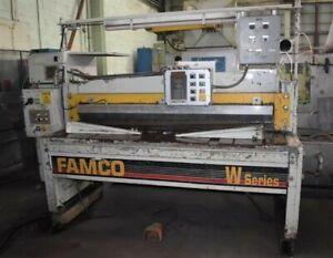"6' x 1/4"" FAMCO ""E13754-272 SERIES W"" MECHANICAL POWER SQUARING SHEAR - 29216"