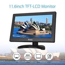 "Eyoyo 11.6""LCD HD 1366*768 Monitor Video Audio HDMI BNC Speaker For  CCTV DVR PC"