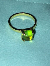 Tiffany & Co Paloma Picasso sugar stacks small ring with peridot in 18K gold 6.5