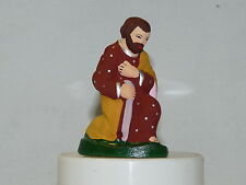 Véritable santon provençal argile 7cm Joseph