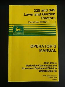 John Deere 325 and 345 Owners Operator Manual - Original, Excellent Condition