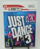 JUST DANCE 3 GAME FOR NINTENDO Wii, GAME DISC, CASE, MANUAL, KATY PERRY, CEE-LO
