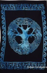 Modern Poster Celtic Tree Small Tapestry Home Decor Wall Hanging Poster Indian