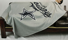 Northwest NFL Football Dallas Cowboys Sweatshirt Throw Blanket - Grey