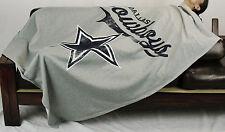 Northwest NFL Football Dallas Cowboys Sweatshirt Throw Blanket - Grey