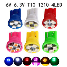 100Pcs 6V 6.3V DC T10 W5W 2825 158 192 168 194 4SMD 1210 LED Pinball Light bulbs