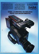 AIRONE985-PUBBLICITA'/ADVERTISING-1985- SABA - VIDEO-MOVIE VHS-C