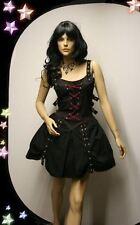"Gothic Wave Punk Bondage Mini Kleid ""Jenny"" schwarz lila S Neu TL-R-6 5958"