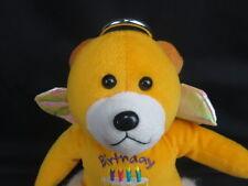 HAPPY BIRTHDAY ANGEL TEDDY BEAR CRINKLE WINGS HALO PLUSH STUFFED ANIMAL TOY