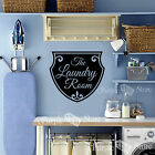 The Laundry Room Shield Sign Vinyl Wall Art Home Decoration Quote Decal Sticker