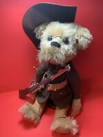 Vintage Handmade Teddy Bear Vintage German Uniform, Mohair, Hand Stitched