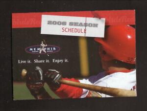 Memphis Redbirds--2006 Pocket Schedule--AutoZone--Cardinals Affiliate