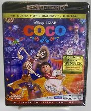 Coco, Collectors Ed. 4K Ultra HD Blu-ray/Blu-ray + Digital Disney New Sealed