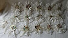 Lot of 16 Handmade Victorian Shabby Style Christmas Ornaments - Cream - Angels