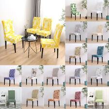 4/6pcs Removable Elastic Chair Covers Sofa Slipcover Kitchen Wedding Part Decor