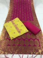 Indian Pakistani Women Regular Salvar Kameej Dupatta Look Dress Material Fabric