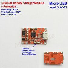 MicroUSB TP5000 3.6v 1A Charger 3.2v LiFePO4 Battery Charging Module +Protection
