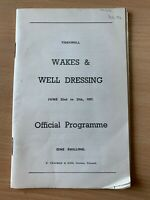1957 TIDESWELL WAKES WEEK & WELL DRESSING OFFICIAL PROGRAMME BOOK
