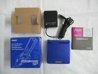 L561 Nintendo Gameboy Advance SP console Azurite Blue Japan GBA w/box x