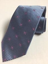 JOSEPH & LYMAN BLOOMINGDALE HAND MADE WOVEN 100% SILK -FLORAL SQUARES TIE, NWT