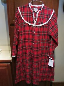 Lanz of Salzburg SIZE MEDIUM NEW WITH TAG Red Plaid
