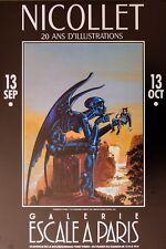 NICOLLET: AFFICHE EXPOSITION du 13/09 au 13/10/1990 - Offset - 40 X 60 - TBE