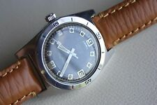 RARE JungFrau 150 METERS Skin Diver all steel , Felsa mov. black dial