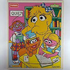 Playskool 1994 Vtg Tray Board Puzzle Sesame Street Library Zoe Prarie Dawn Snuff