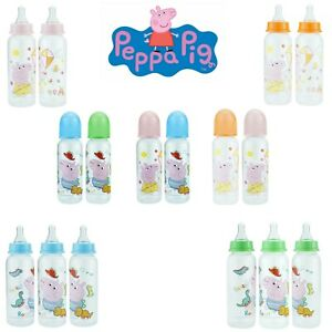 Peppa Pig George Feeding Bottles 250ml Standard Neck Non Toxic Baby Xmas Gift